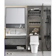 ARROW 箭牌卫浴 卫浴用品组合 plus款马桶+轻奢浴室柜+黑色增压花洒+挂件套装