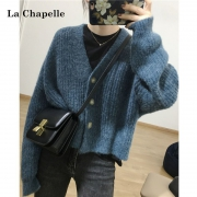 LaChapelle 拉夏贝尔 女士宽松针织上衣 毛衣开衫 91361331579元包邮