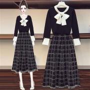 TONLION 唐狮 女士针织半身裙两件套 62542FC010547790177元+运费