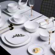 HANCHEN 瀚宸 轻奢简约 餐具套装 30件套 月白¥178.20 2.0折 比上一次爆料降低 ¥19.8