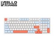 HELLO GANSS HS 98T 三模机械键盘 白羽 TTC金粉聚光镜轴
