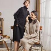 TONLION 唐狮  高领纯色毛衣裙  62442FC0167元(需运费)