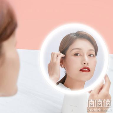 AMIRO 化妆镜子LED带灯美容镜高清智能日光镜台式美妆镜
