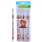 CHUNGHWA 中华牌 6080 儿童书写HB铅笔 卡通圆杆铅笔10支/袋