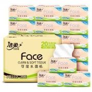 C&S 洁柔 粉Face系列 抽纸 3层100抽20包(195mm*123mm)*3件64元+运费(合21.33元/件)