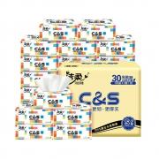 88VIP:C&S 洁柔 订制抽纸 3层100抽30包 (195mm*123mm) *5件返后112.3元,合22.46元/件(232.3元+返卡120元)