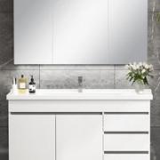KUKa 顾家家居 G-06204 现代简约浴室柜 两门三抽配镜柜 120cm¥2439.00 7.0折 比上一次爆料降低 ¥60