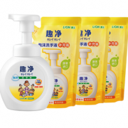 LION 狮王 趣净泡沫洗手液 清爽柠檬香(瓶装250ml+替换装200ml*3)