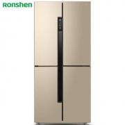 Ronshen 容声 BCD-456WD11FP 对开门冰箱 456L 钛空金3399元包邮(下单立减)
