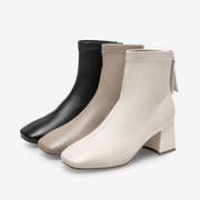 BASTO 百思图 女士粗高跟时装靴 MD017DD1¥299.00 3.0折