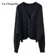 LaChapelle 拉夏贝尔 女士宽松针织上衣  毛衣开衫  913613315