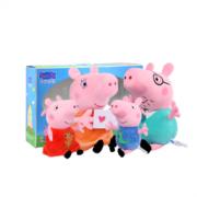 Peppa Pig 小猪佩奇 一家4口毛绒礼盒装 小号88元