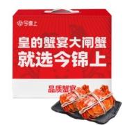 PLUS会员:今锦上 鲜活大闸蟹 公3.3-3.6两 母2.2-2.5两 3对6只110元包邮(双重优惠)