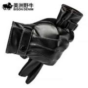 BISON DENIM 美洲野牛 冬季骑行加绒皮手套¥9.90 0.6折