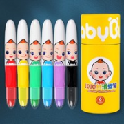 BabyBus 宝宝巴士 QM017 JOJO儿童水溶性蜡笔 6色