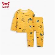 PLUS会员:Miiow 猫人 儿童加绒保暖内衣套装*3件89元包邮(需用券,29.67元/件)