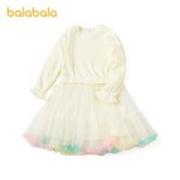 balabala 巴拉巴拉 女童加绒连衣裙
