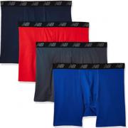 M码!New Balance 男士运动平角内裤 4条装