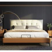 Sleemon 喜临门 安娜贝斯+星辰精英 轻奢真皮实木软床 1.8m