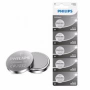 PHILIPS 飞利浦 CR2032 纽扣电池 5粒装
