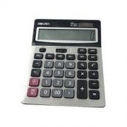 deli 得力 1654 桌上型计算器 银色28.5元