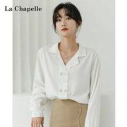 La Chapelle 拉夏贝尔 913612978 女士V领雪纺衬衫89元包邮