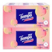 Tempo 得宝 手帕纸 4层7张12包(210mm*210mm)水蜜桃香味