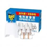 88VIP:Raid 雷达蚊香 电热蚊香液 5瓶+1器 280晚 无香