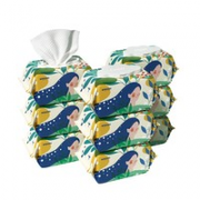 BoBDoG 巴布豆 婴儿加厚带盖湿巾 80抽*9包
