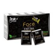 C&S 洁柔 黑face 无香手帕纸 4层6片30包(182mm*186mm)
