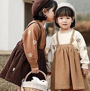 YOYO KIDS 幼悠 女童复古背带裙
