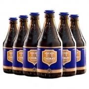 CHIMAY 智美 修道士精酿 蓝帽啤酒 组合装 330ml*6瓶 拍2件133元 (需买2件,合66.5元/件,双重优惠)