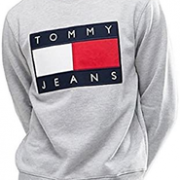 Tommy Hilfiger 汤米·希尔费格 Tommy Jeans 男士旗帜圆领卫衣 S码 到手¥211.74¥192.30