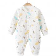 AIYINGBEIBI 爱婴贝比 婴儿夹棉连体衣 2件装