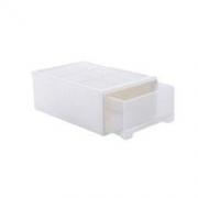 BELO 百露 塑料抽屉式收纳柜收纳柜鞋盒储物柜衣物整理箱 中号加厚单个