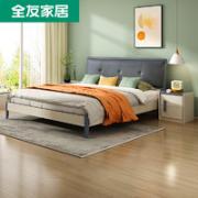 QuanU 全友 122702 现代简约框架单床 1.5m¥699.00 2.1折