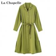La Chapelle 拉夏贝尔 912613067 女士系带连衣裙 两色可选130元包邮