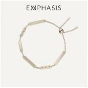 EMPHASIS Manon「融」系列 90560B 简约风黑钻石手链 0.1克拉 22cm1665元