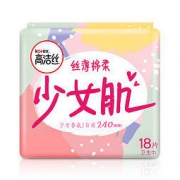 kotex 高洁丝 Kotex 少女肌240mm18片 日用棉柔丝薄卫生巾 产品升级,新老包装随机发货