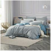LUOLAI 罗莱家纺 全棉亲肤四件套 纯棉床单被套 时尚简约 蓝梦城市 1.8米床 220*250cm