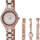 Anne Klein 安妮·克莱恩 AK/3396WRST 施华洛世奇水晶 女士手镯手表套装¥260.55