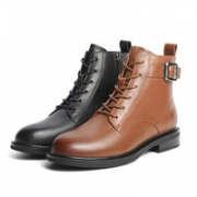 BeLLE 百丽 3W548DD1 金属扣休闲皮靴¥479.00 3.0折