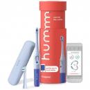 Hum by Colgate 智能电池牙刷套装 带旅行盒和替换头的声波牙刷 蓝色